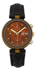 "Timepieces:Wristwatch, Gerald Genta Ref. G 2989.7 ""Safari"" Chronograph. ..."