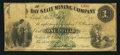 Obsoletes By State:Michigan, Eagle River, MI- Bay State Mining Company $1 May(?) 4, 1863 Lee CMGC-3-2. ...