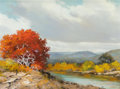 Texas:Early Texas Art - Modernists, William A. Slaughter (American, 1923-2003). Fall in Texas.Oil on canvas. 18-1/4 x 24 inches (46.4 x 61.0 cm). Signed lo...