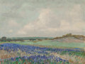 , Reveau Bassett (American, 1897-1981). Field Sketch withBluebonnets. Oil on canvasboard. 12 x 16 inches (30.5 x 40.6cm)...