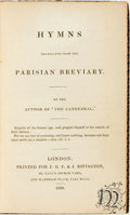 Books:Religion & Theology, [Religion & Theology]. Hymns Translated from the ParisianBreviary. London: Printed for J. G. F. & J. Rivington,183...