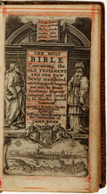 Books:Religion & Theology, [Religion & Theology]. The Holy Bible Containing the OldTestament and the New. London: Printed by Roger Daniel ...