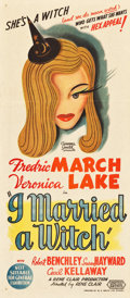"Movie Posters:Fantasy, I Married a Witch (United Artists, 1942). Australian Daybill (13"" X30"").. ..."