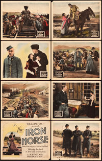 "The Iron Horse (Fox, 1924). Lobby Card Set of 8 (11"" X 14""). ... (Total: 8 Items)"