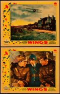 """Movie Posters:Academy Award Winners, Wings (Paramount, 1927). Lobby Cards (2) (11"""" X 14"""").. ... (Total: 2 Items)"""
