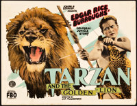 "Tarzan and the Golden Lion (FBO, 1927). Title Lobby Card (11"" X 14""). Adventure"