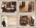 "Movie Posters:Mystery, Sherlock Holmes (Goldwyn, 1922). Title Lobby Card and Lobby Cards(3) (11"" X 14"").. ... (Total: 4 Items)"