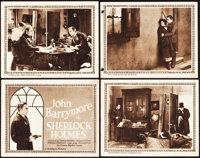 "Sherlock Holmes (Goldwyn, 1922). Title Lobby Card and Lobby Cards (3) (11"" X 14""). ... (Total: 4 Items)"