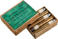 Box of 10 Antique Sharps Rifle Cartridges by Winchester