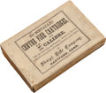 Ammunition, Rare Box of Antique Rifle Ammunition by Sharps....