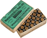 Complete Box of Model 1873 Ammunition by Winchester