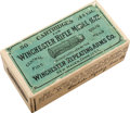 Ammunition, Rare Unopened Box of Model 1873 Ammunition by Winchester....