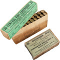 Ammunition, Two Boxes of Antique Sharps Rifle Ammunition by Winchester....(Total: 2 Items)
