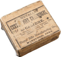 Rare Box of Antique Rifle Ammunition by Sharps