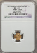 California Fractional Gold: , 1870 50C Liberty Round 50 Cents, BG-1010, R.3, -- Mounted -- NGCDetails. AU. NGC Census: (0/49). PCGS Population (2/161). ...