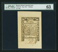 Colonial Notes:Rhode Island, Rhode Island May 1786 1s PMG Choice Uncirculated 63.. ...