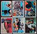 Non-Sport Cards:Singles (Pre-1950), 1966 Topps Batman Partial Sets Collection (206)....