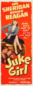 "Movie Posters:Bad Girl, Juke Girl (Warner Brothers, 1942). Insert (14"" X 35.75"").. ..."