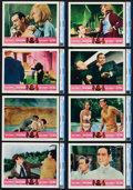 "Movie Posters:James Bond, Goldfinger/Dr. No Combo (United Artists, R-1966). CGC Graded LobbyCard Set of 8 (11"" X 14"").. ... (Total: 8 Items)"
