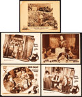 "Movie Posters:Comedy, Our Gang Comedy Lot (MGM, 1928-1932). Lobby Cards (5) (11"" X 14"")""Growing Pains,"" ""Little Mother,"" ""Birthday Blues,"" & ""Sat...(Total: 5 Items)"