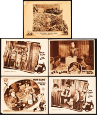 """Our Gang Comedy Lot (MGM, 1928-1932). Lobby Cards (5) (11"""" X 14"""") """"Growing Pains,"""" """"Little Moth..."""
