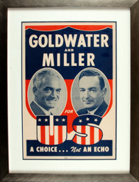 [Politics & Government]. Presidential Campaign Poster for Republican Party Goldwater and Miller. Los Angeles: Allied...
