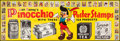 "Movie Posters:Animation, Pinocchio (RKO, 1940). Advertising Banner (26.5"" X 79""). Animation.. ..."