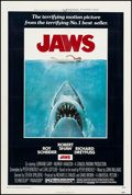"Movie Posters:Horror, Jaws (Universal, 1975). One Sheet (27"" X 41""). Horror.. ..."
