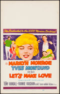 """Movie Posters:Comedy, Let's Make Love (20th Century Fox, 1960). Window Card (14"""" X 22"""").Comedy.. ..."""