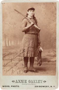 """Annie Oakley: The Finest Autographed Photo of """"Little Sure Shot"""" We Have Ever Handled"""