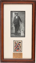 Autographs:Celebrities, John Wesley Hardin: An Iconic Shot-through and Signed Playing Card, Signed and Dated July 4, 1895....