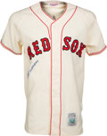Baseball Collectibles:Others, 1990's Ted Williams Signed Boston Red Sox Rookie Replica Jersey....