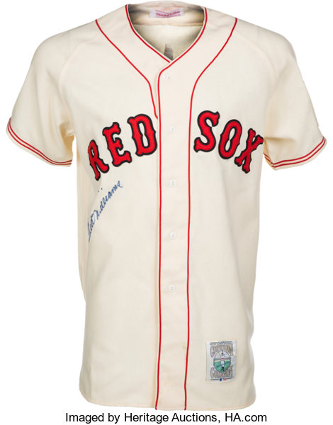 1990 s Ted Williams Signed Boston Red Sox Rookie Replica Jersey ... 40050b52b21