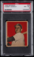Baseball Cards:Singles (1940-1949), 1949 Bowman Tommy Henrich #69 PSA NM-MT 8....