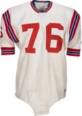 Football Collectibles:Uniforms, 1966-68 Charlie Long Game Worn Boston Patriots Jersey....