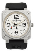 Timepieces:Wristwatch, Bell & Ross BR01-97 Aviation Type Steel Wristwatch. ...