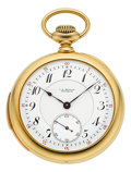 Timepieces:Pocket (post 1900), C.H. Meylan First Quality Gold Minute Repeater, circa 1910. ...