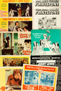 """Miscellaneous:Ephemera, [Lobby Cards]. Scared Stiff and Others Lot (Paramount,1953). Lobby Card Sets of 8 (4) (11"""" X 14"""") and Pressbook..."""