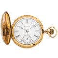 Timepieces:Pocket (pre 1900) , Rockford 15 Jewel Hunter's Case Pocket Watch. ...