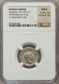 Ancients:Roman Imperial, Ancients: Caracalla (AD 198-217). AR denarius (3.51 gm)....