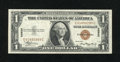 Small Size:World War II Emergency Notes, Fr. 2300 $1 1935A Hawaii Silver Certificate. Gem Crisp Uncirculated.. An enormously margined example of this Hawaii Ace that...