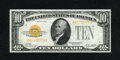 Small Size:Gold Certificates, Fr. 2400 $10 1928 Gold Certificate. Very Fine.. All inks are dark on this lovely mid-grade example, especially the orange in...