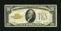 Small Size:Gold Certificates, Fr. 2400 $10 1928 Gold Certificate. Fine.. Numismatist Jules Reiver was arrested by the Secret Service in August 1960 for re...