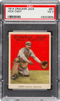 Baseball Cards:Singles (Pre-1930), 1914 Cracker Jack Hick Cady #87 PSA VG 3 - Only Eight Total Examples on Record! ...