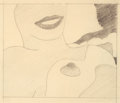 Works on Paper, Tom Wesselmann (1931-2004). Study for Seascape Nude, 1965. Pencil on paper. 6-5/8 x 7-5/8 inches (16.8 x 19.4 cm) (sight...