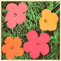 ANDY WARHOL (American, 1928-1987) Flowers, 1964 Offset lithograph in colors on wove paper 22 x 22