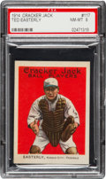 Baseball Cards:Singles (Pre-1930), 1914 Cracker Jack Ted Easterly #117 PSA NM-MT 8 - Pop One, HighestGraded Example! ...