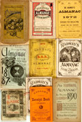 Books:Americana & American History, [Almanacs]. Group of Ten Nineteenth-Century Almanacs. Variouspublishers, [1869 - 1890]. . ...