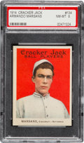 Baseball Cards:Singles (Pre-1930), 1914 Cracker Jack Armando Marsans #134 PSA NM-MT 8 - Pop One, theHighest Graded Example! ...