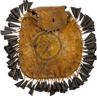 Geronimo: An Important Apache Hide Pouch Gifted by the Famous Chief, Along with the Original Manuscript and Author's Not...